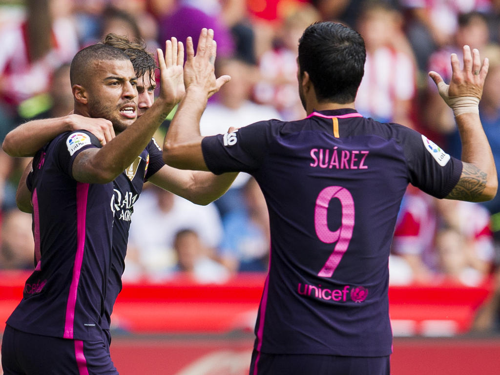 Rafinha und Luis Suárez ließen Gijón keine Luft zum Atmen