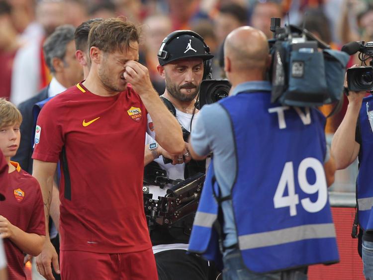Francesco Totti hat am Wochenende sein letztes Spiel für AS Roma absolviert