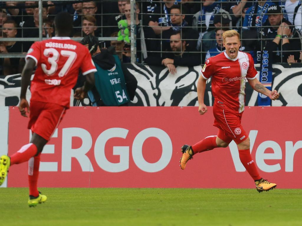Rouwen Hennings traf beim Düsseldorfer Sieg doppelt