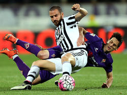 Leonardo Bonucci (vorne) steht mit Juventus kurz vor der Meisterschaft