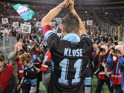 Wehmütig verabschiedet sich Klose von seinen Lazio-Anhängern