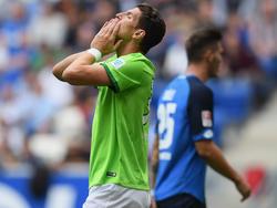 Zum Verzweifeln: Wölfe-Stürmer Mario Gomez ärgert sich