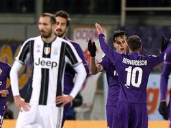 Jubel bei der Fiorentina, bedröppelte Gesichter bei Juve