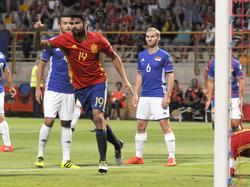 Costa ya golea con España. (Foto: Getty)