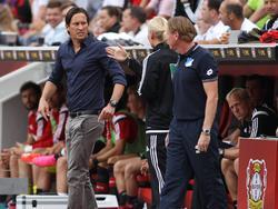 Schmidt (l.) wird im Pokal fehlen, Gisdol (r.) hofft auf einen HSV-Sieg