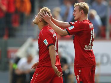 Joel Pohjanpalo und Julian Brandt (r.) trafen für Bayer