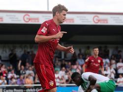 Ist sich seiner Aufgabe beim VfB Stuttgart bewusst: Stürmer Simon Terodde