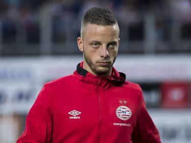 Bart Ramselaar voorafgaand aan de competitiewedstrijd van PSV bij PEC Zwolle. (20-08-2016)