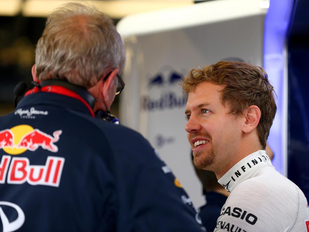 Sebastian Vettel (r.) und Helmut Marko verstehen sich noch immer sehr gut