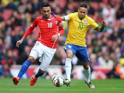 Neymar (r.) tritt nicht bei der Copa América an