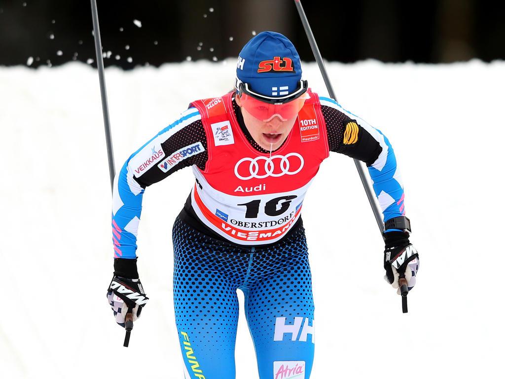Die finnische Langläuferin Krista Parmakoski ist immer für einen Podiumsplatz gut
