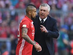 Arturo Vidal und Carlo Ancelotti arbeiten auch wohl in der nächsten Saison zusammen