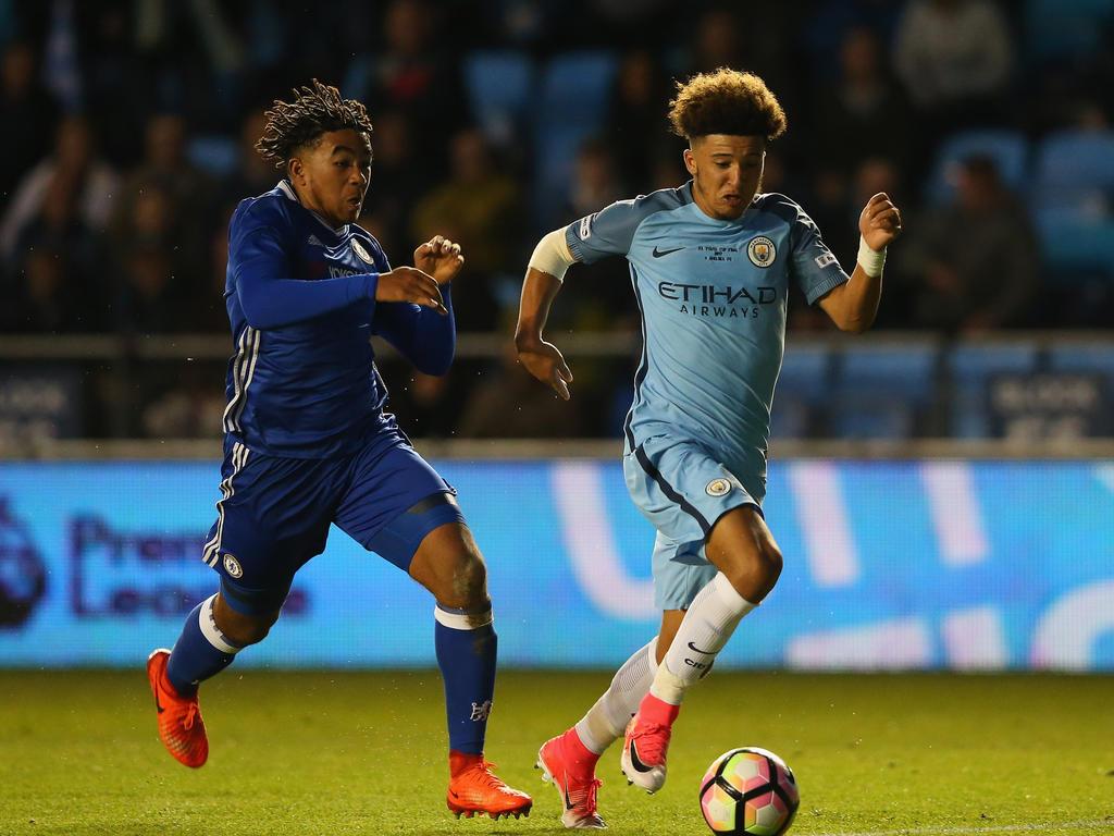 Manchester Citys Jadon Sancho im Anflug auf Borussia Dortmund