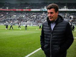 Gladbachs Trainer Dieter Hecking hatte nach der 1:2-Niederlage gegen Leipzig nicht die beste Laune