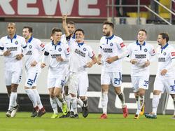Karlsruhe setzte seine Erfolgsserie auch beim Ligaprimus fort