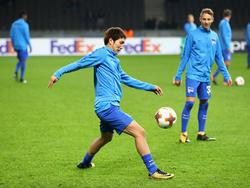 Hertha BSC trainiert vor dem Auswärtsspiel in Bilbao in Berlin