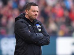 Hertha-Coach Pál Dárdai blickte schon auf das nächste Spiel gegen den FC Bayern