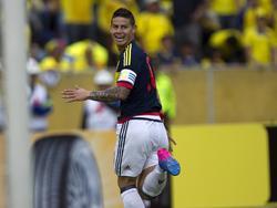 James celebra su tanto ante los ecuatorianos. (Foto: Imago)