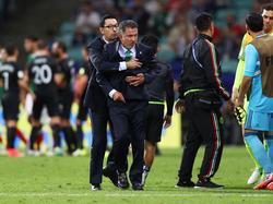 Juan Carlos Osorio war im hitzigen Spiel gegen Neuseeland gar nicht zu beruhigen
