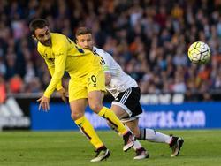 Shkodran Mustafi hatte mit Valencia gegen Villarreal das Nachsehen