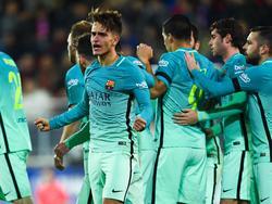 Der FC Barcelona hält den Anschluss an das Spitzenduo der Primera División