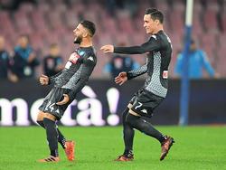 Insigne celebra el primer gol de su equipo. (Foto: Getty)
