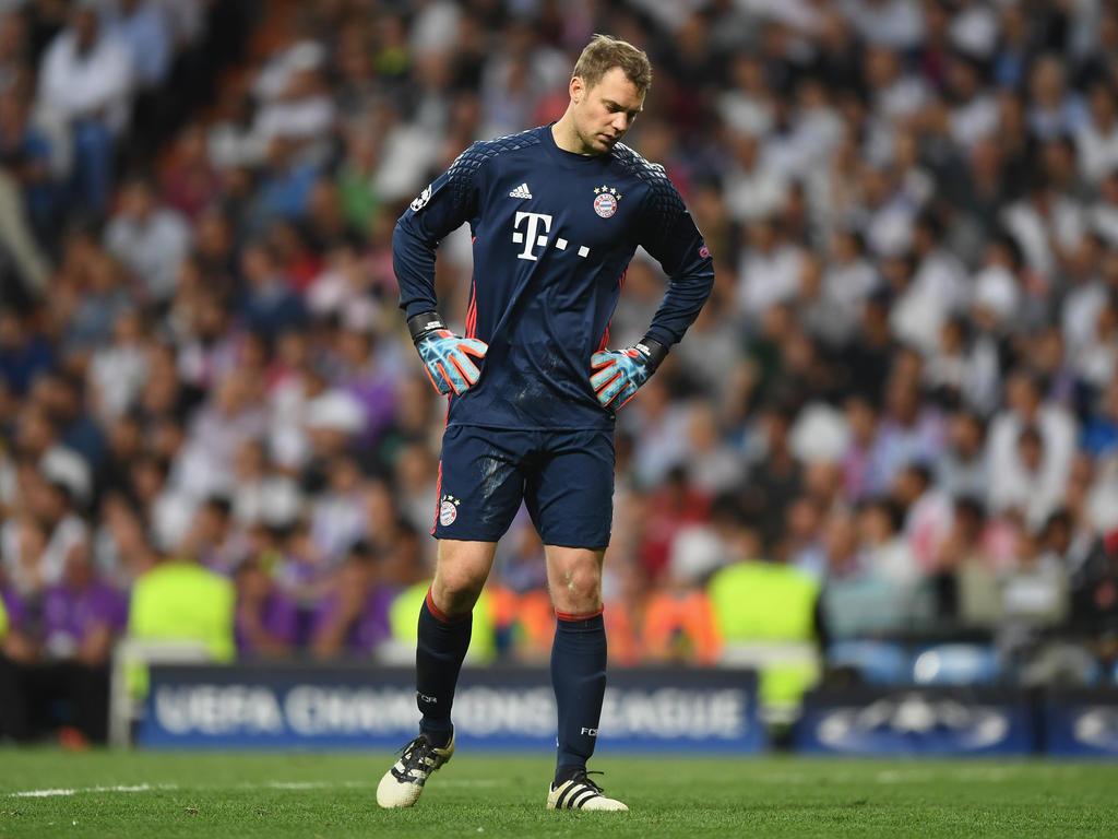 Manuel Neuer ayer en Madrid tras sufrir la lesión. (Foto: Getty)