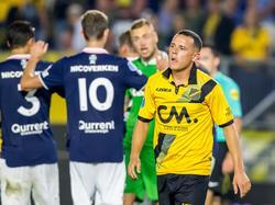 Giovanni Korte baalt van het gelijkspel tegen Sparta Rotterdam. (25-08-2017)