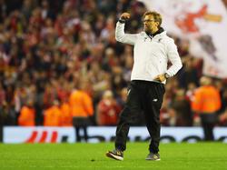 Jürgen Klopp und die Reds stehen im Finale