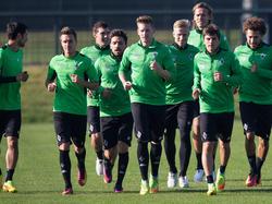 Borussia Mönchengladbach trainiert für das große Spiel