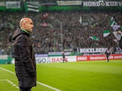 André Schubert fühlt sich im Borussia-Park sehr wohl