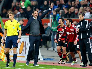 Roger Schmidt darf den Einzug in die Champions League feiern
