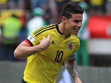 James Rodríguez festejando un gol (Foto: Getty)