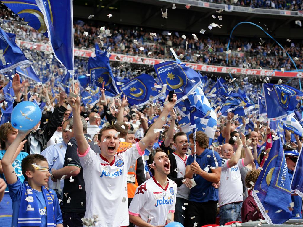 Die Fans des Portsmouth Football Club haben endlich wieder Grund zur Freude