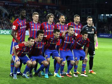 Das Team von CSKA Moskva steht bereit für die Champions-League
