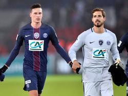 Draxler (l.) und Trapp spielen zusammen bei Paris Saint-Germain