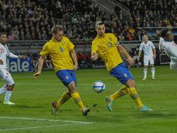 Anders Svensson (l.) findet harte Worte zu Zlatan Ibrahimović (r.)