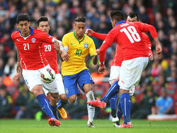 Die Partie zwischen Brasilien und Chile wird in São Paulo ausgetragen