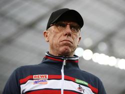 Fokussiert auf das Gastspiel in Mainz:Köln-Coach Peter Stöger