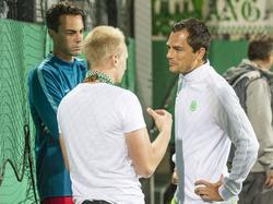 Diego Benaglio (l.) und Marcel Schäfer setzten sich für Draxler ein
