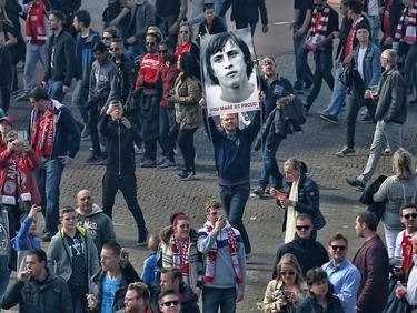 Die Fans in Amsterdam gedachten Johan Cruyff