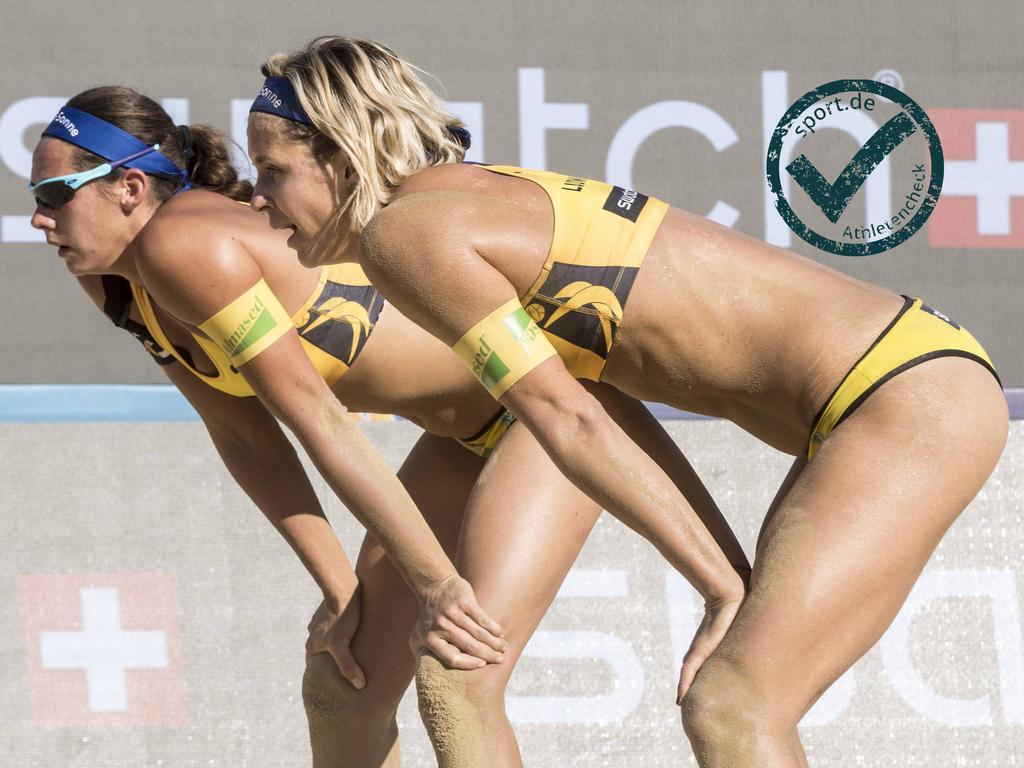 Kira Walkenhorst (l.) und Laura Ludwig zählen bei Olympia zu den Favoritinnen