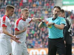Alfreð Finnbogason sah Rot gegen den 1. FC Köln