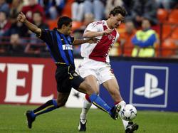 Zlatan Ibrahimović (r.) spielte seit 2001 für Ajax statt für Bayern München