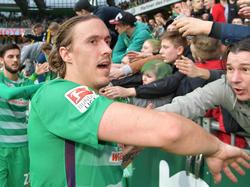 Bremens Max Kruse trat doppelt gegen Darmstadt