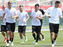 Die deutsche Mannschaft bereitet sich aufs letzte Gruppenspiel vor