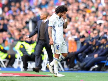Marcelo tenía que retirarse contra el Málaga. (Foto: Getty)