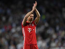 Bayern Münchens Xabi Alonso sagt am Samstag Adios