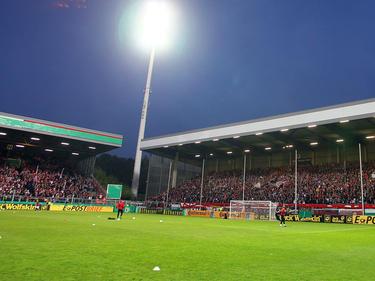 Das Georg-Melches-Stadion an der Hafenstraße in Essen