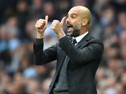 Pep Guardiola ist mit seinen ersten Monaten in Manchester zufrieden